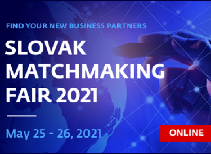 Slovak Matchmaking Fair 2021 (virtual) – Find your supplier and expand your Business